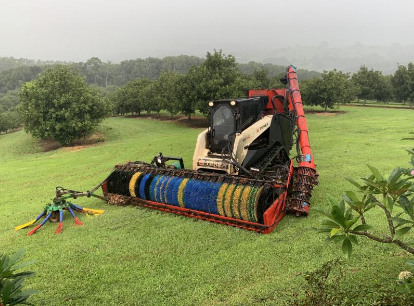 orchard tractor macadamia harvester